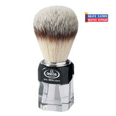 Omega HI-BRUSH Synthetic Fiber Brush Transparent Resin Handle.