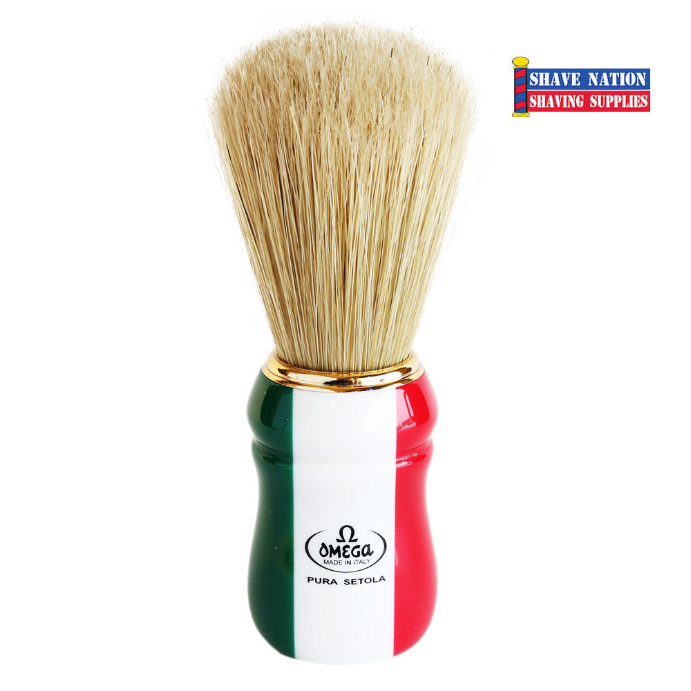 Omega Bristle Brush ITALIAN FLAG Handle