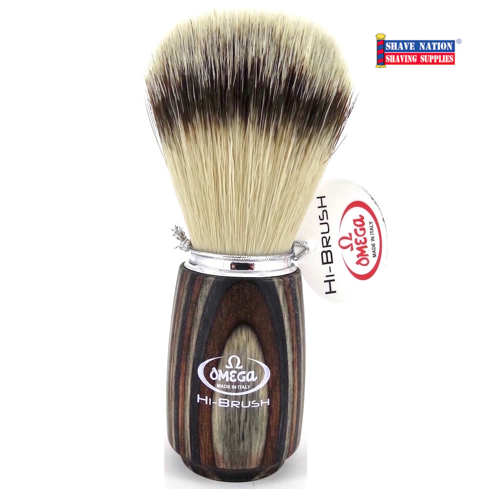 Omega Hi-Brush with Synthetic Bristles and Wood Handle