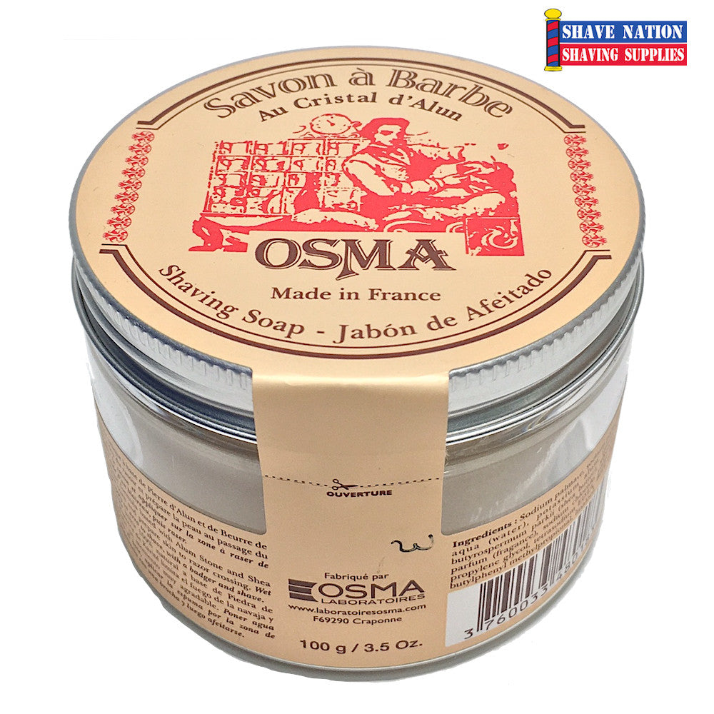 Osma Shaving Soap Puck in Plastic Jar