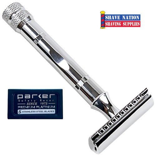 Parker Closed Comb Safety Razor 3-Piece 89R