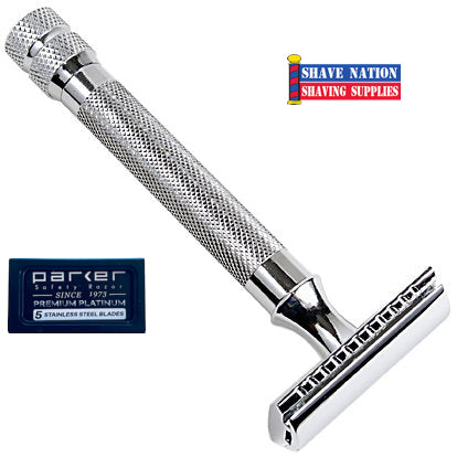 Parker Closed Comb Safety Razor 3-Piece 91R