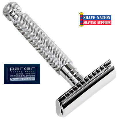 Parker Closed Comb Safety Razor 3-Piece 97R