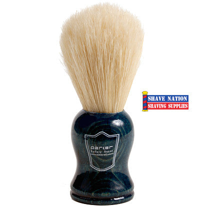 Parker Boar Brush Blue Wood Handle