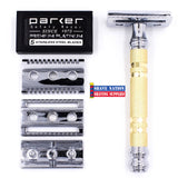 Parker 69CR-Convertible Safety Razor Open Comb-Closed Comb