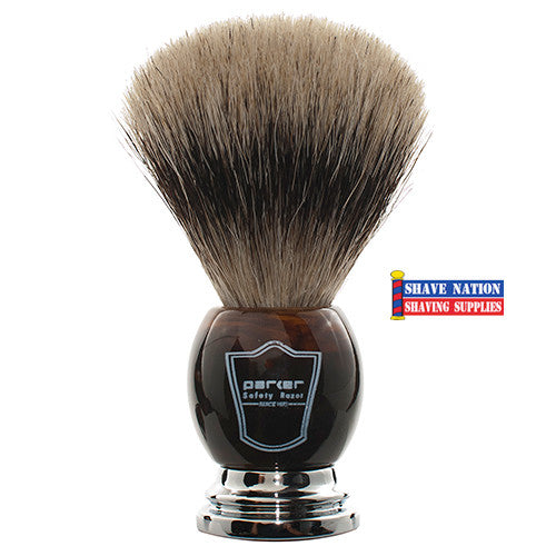 Parker Pure Badger Brush Imitation Horn Handle