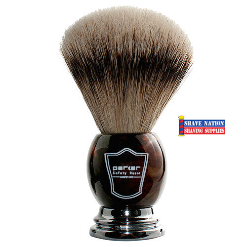 Parker Silvertip Badger Brush Imitation Horn Handle