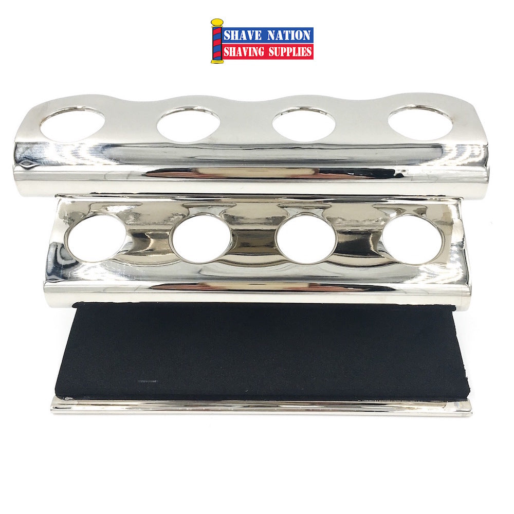 Parker 4 Razor Caddy Stand Chrome