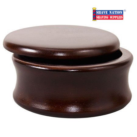 Parker Mango Wood Shaving Soap Bowl with Lid-Classic