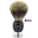 Parker Pure Badger Brush Black-Chrome