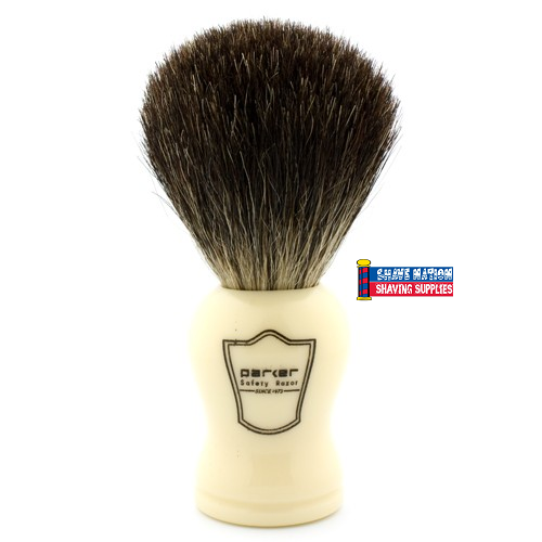 Parker Black Badger Brush Ivory
