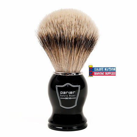Parker Silvertip Brush Ebony