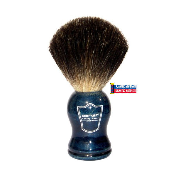Parker Black Badger Brush Blue Handle