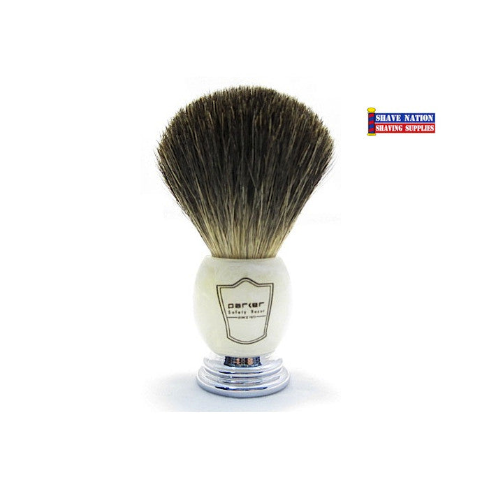 Parker Black Badger Brush Marble