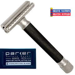 Parker Variant Adjustable Safety Razor with Blades