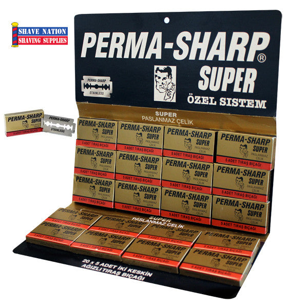 Perma-Sharp Super DE Blades 100 Ct