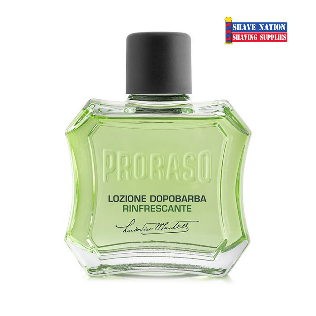 Proraso Aftershave Lotion Refresh-Green *New Bottle!