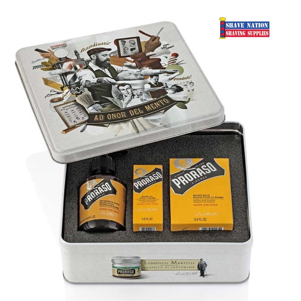 Proraso Beard Gift Tin - Wood and Spice