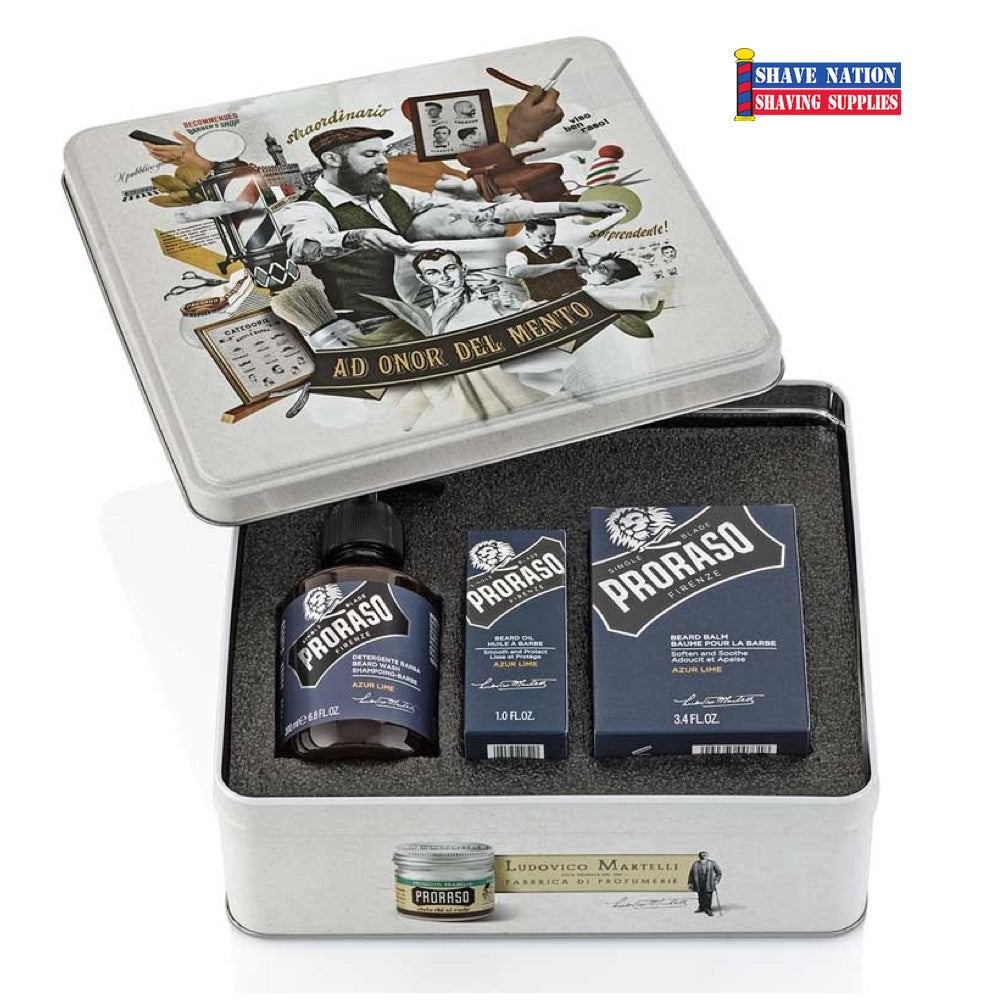Proraso Beard Gift Tin - Azur Lime