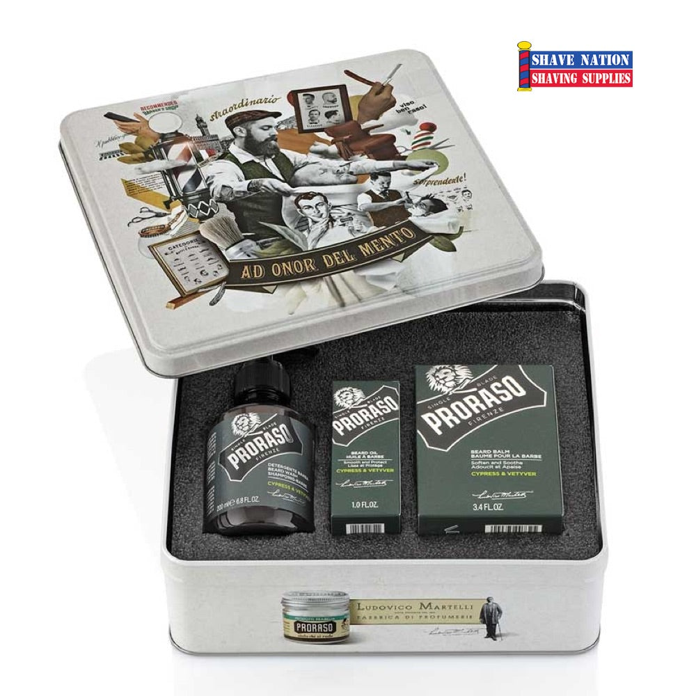 Proraso Beard Gift Tin - Cypress and Vetiver