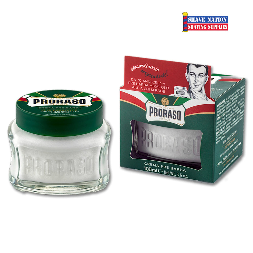 New Jar! Proraso Preshave Cream-Menthol and Eucalyptus-Green