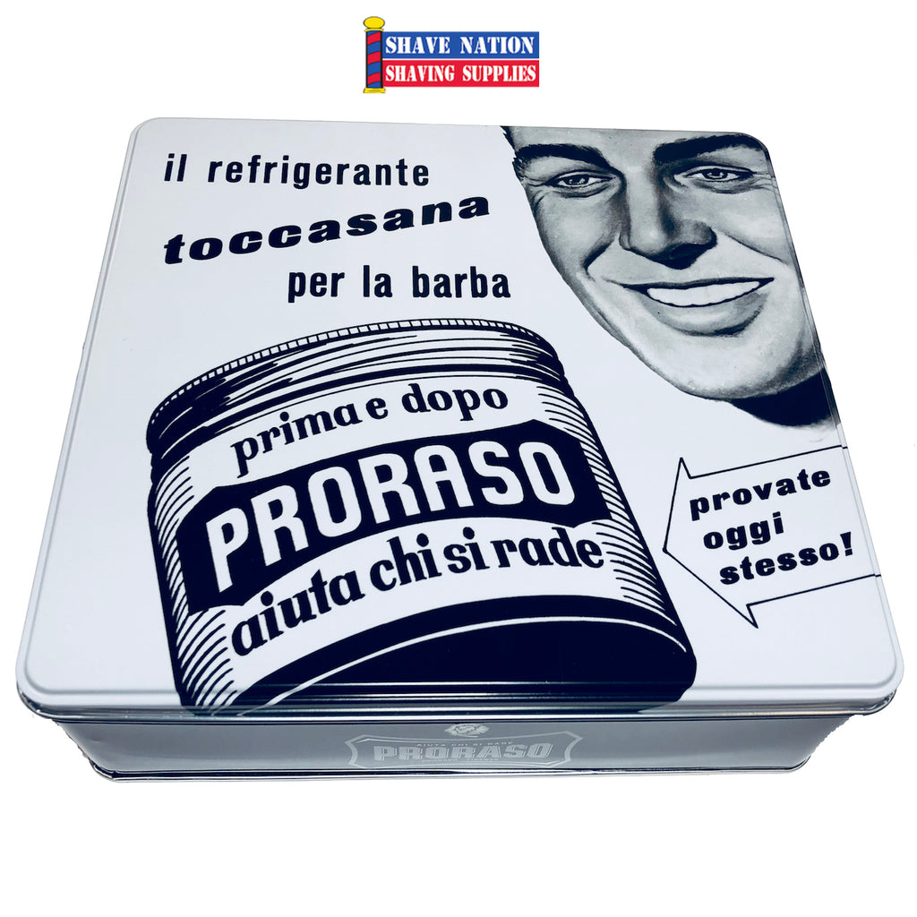 Proraso Vintage Tin Shaving Set-Sensitive Skin Formula-Toccasana