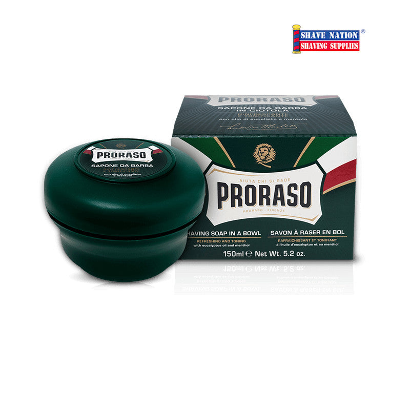Proraso Shaving Soap Menthol and Eucalyptus Jar