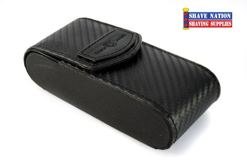 Edwin Jagger Safety Razor Case-Carbon Fibre Effect
