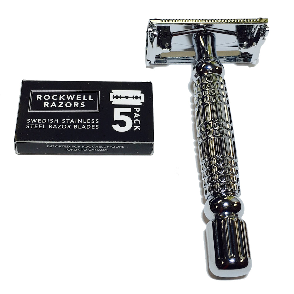 Rockwell R1 Butterfly Safety Razor with Blades