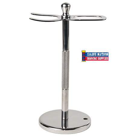 Parker Straight Razor & Brush Stand-Stainless