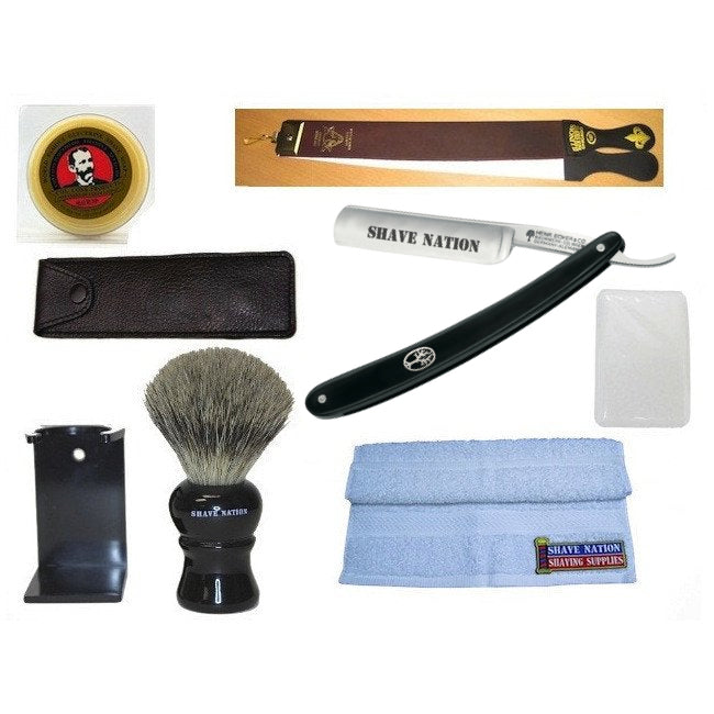 Shave Nation All In Straight Razor Shaving Set