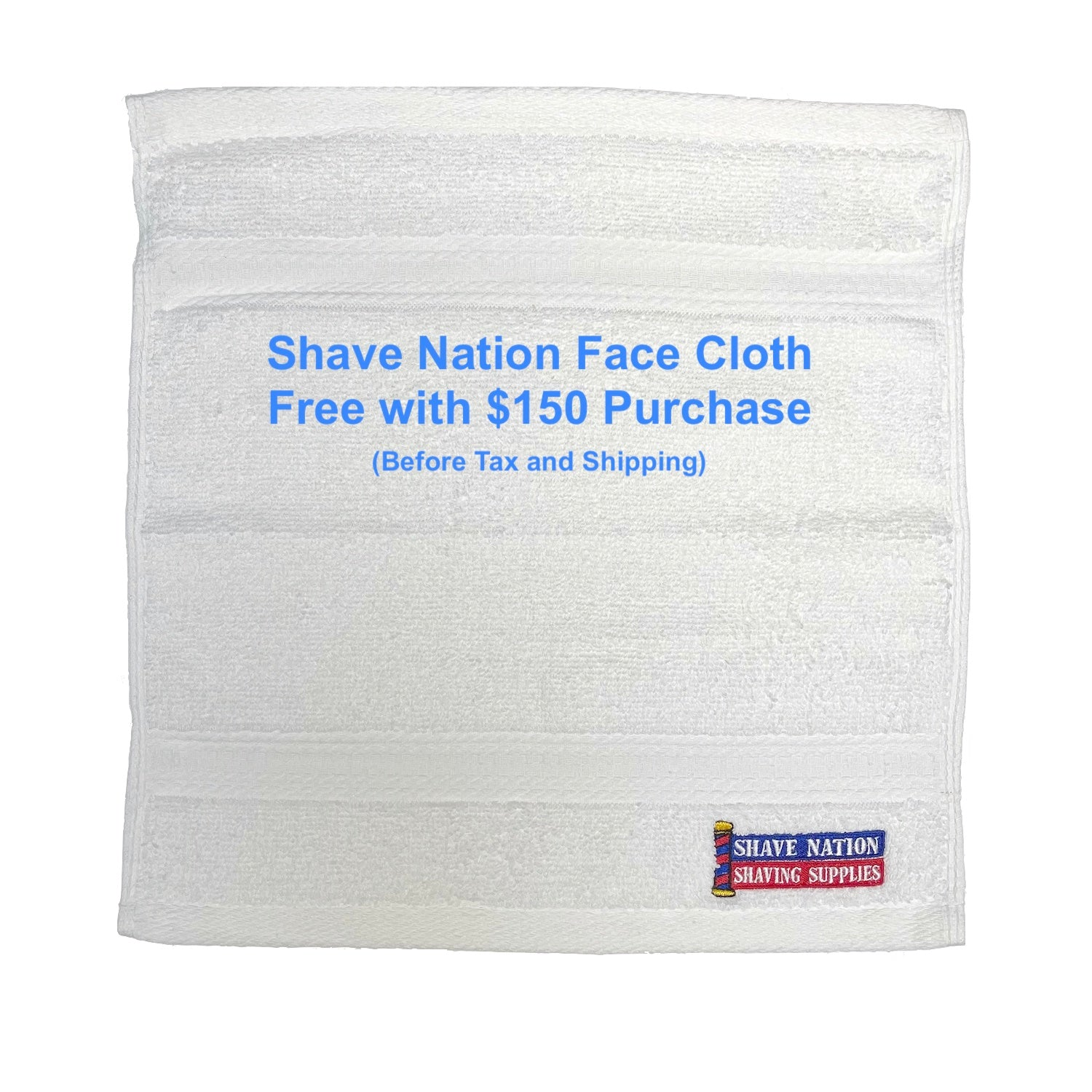 Shave Nation Face Cloth-White