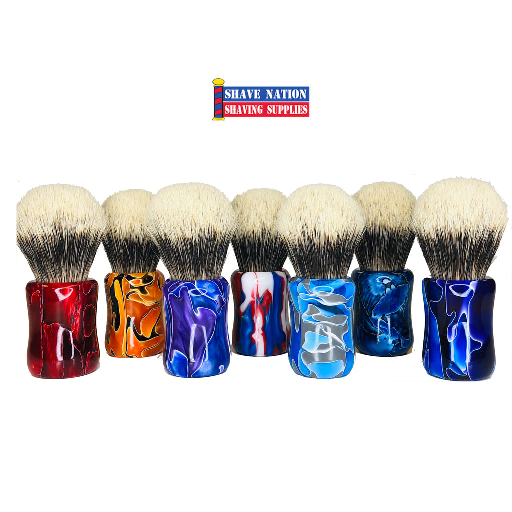 Shave Nation Fine Badger Brush with Polished Resin Handle