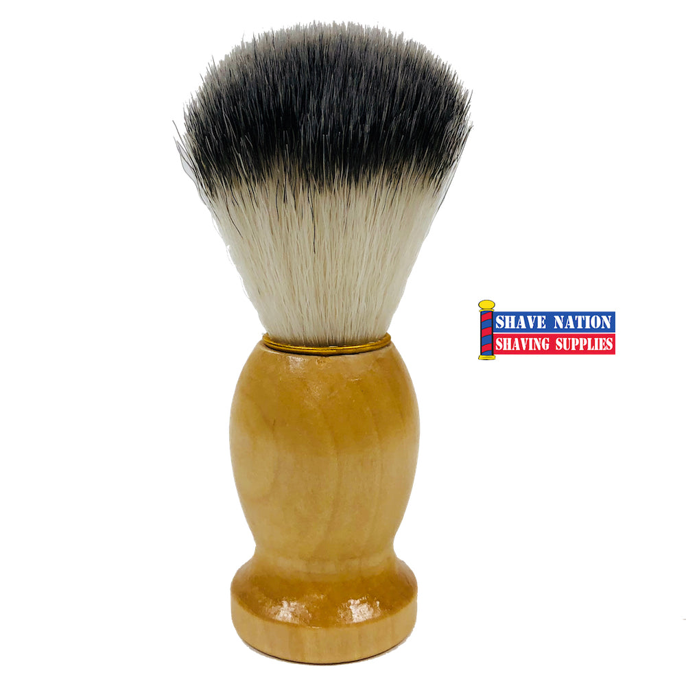 Shave Nation Synthetic Shaving Brush Wood Handle