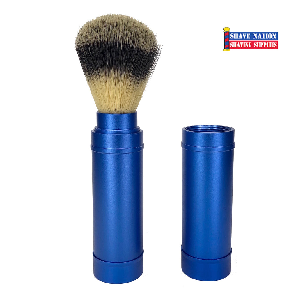 Shave Nation Soft Synthetic Travel Brush Blue