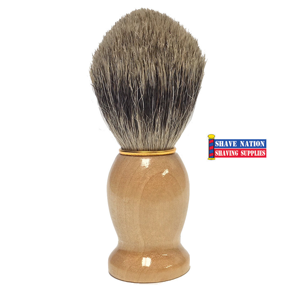 Shave Nation Pure Badger Shaving Brush Wood Handle