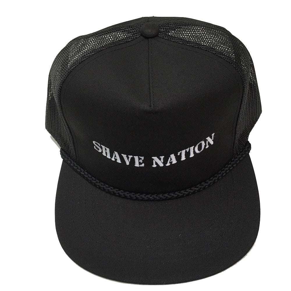 Shave Nation Black Snap-Cap Baseball/Golf Hat