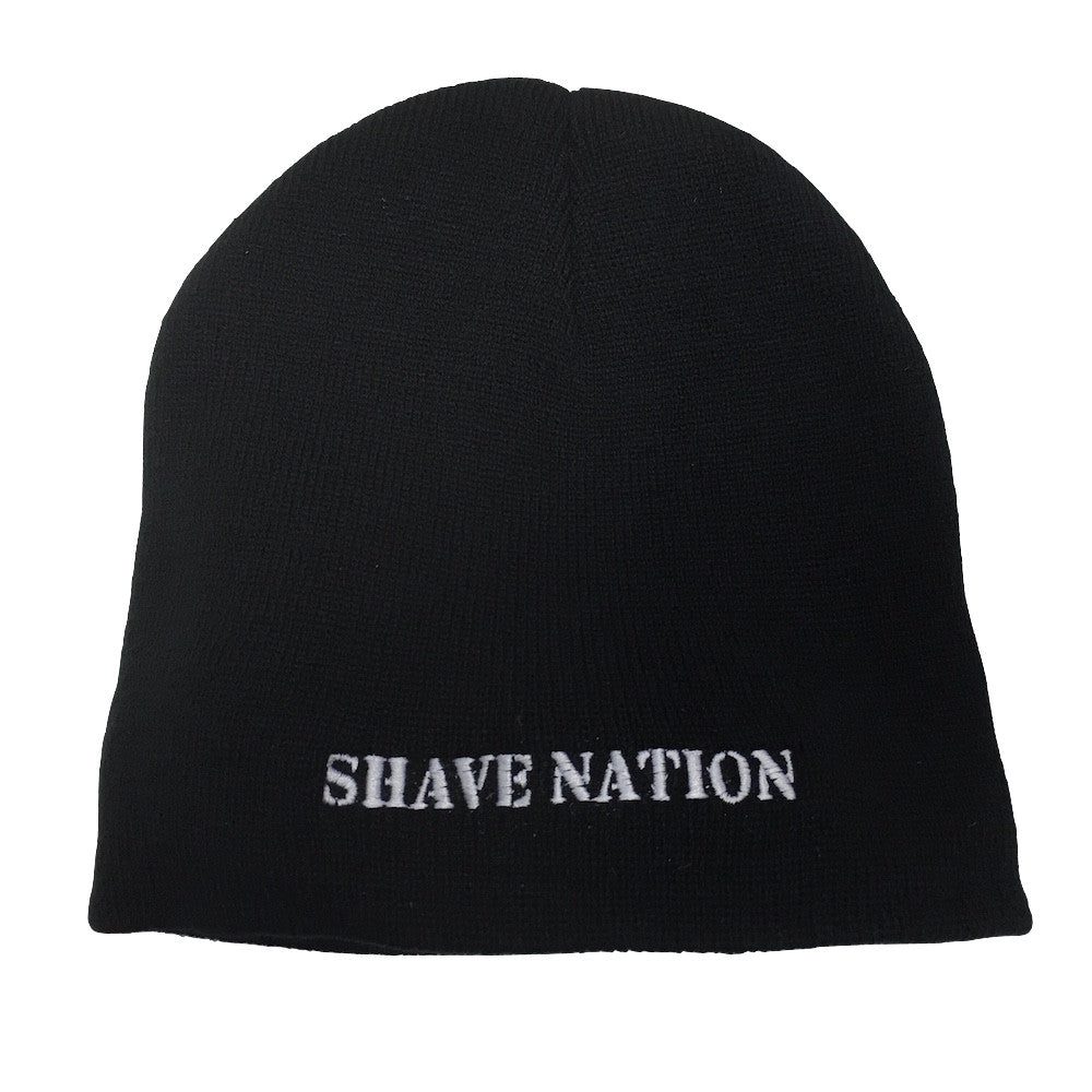 Shave Nation Black Fitted Knit Cap