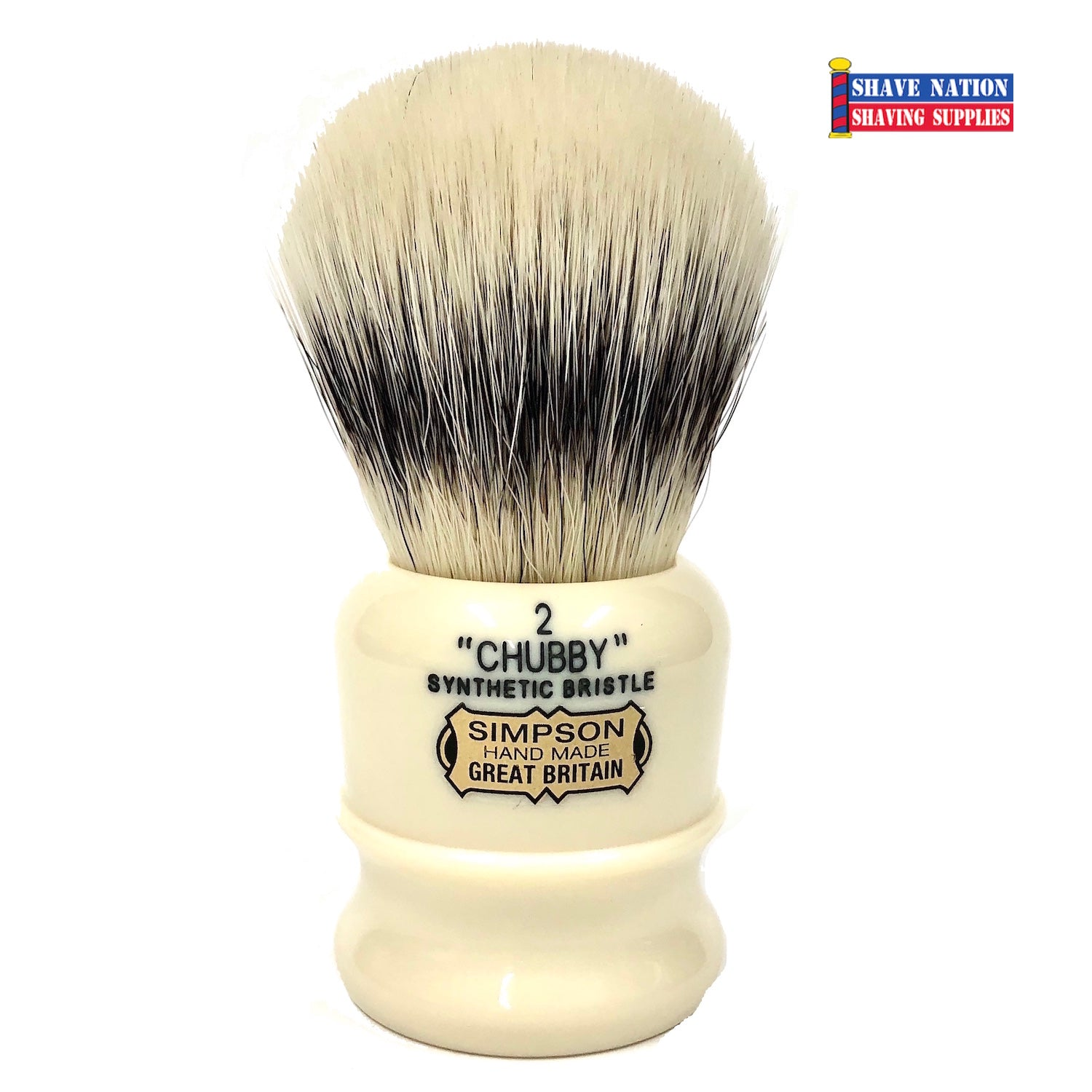 Simpsons Chubby 2 Synthetic Bristle Brush Faux Ivory Handle