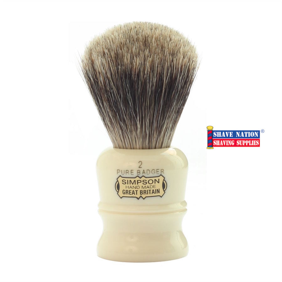 Simpsons Duke D2 Pure Badger Brush