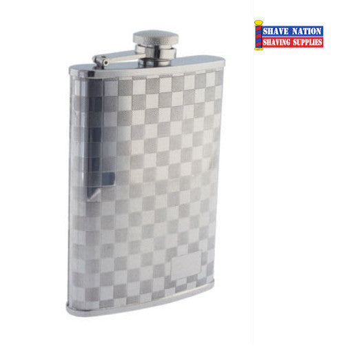 Stainless Flask Checkerboard 8oz