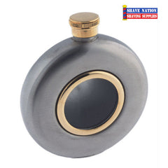 Stainless Round Flask Gold 5oz