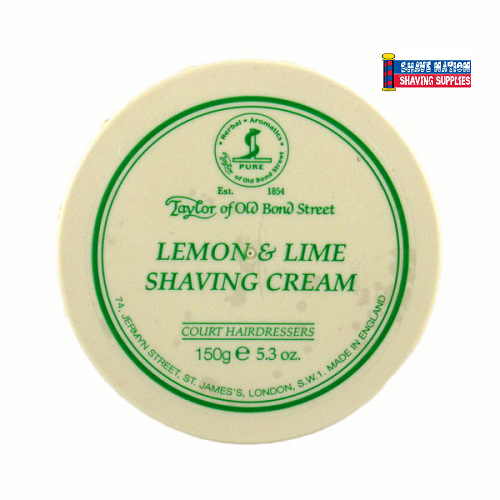 Taylor of Old Bond Street Shaving Cream Jar Lemon Lime