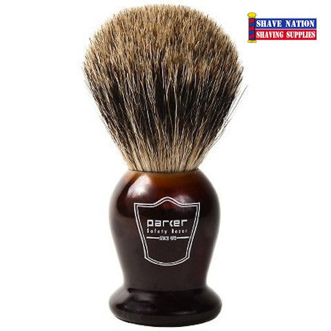 Parker Pure Badger Brush Tortoise Handle