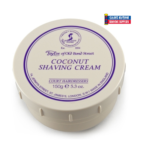 Taylor of Old Bond Street Shaving Cream Jar Coconut