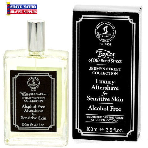 Taylor of Old Bond Street Luxury Aftershave Sensitive Skin Jermyn Street Spray Bottle