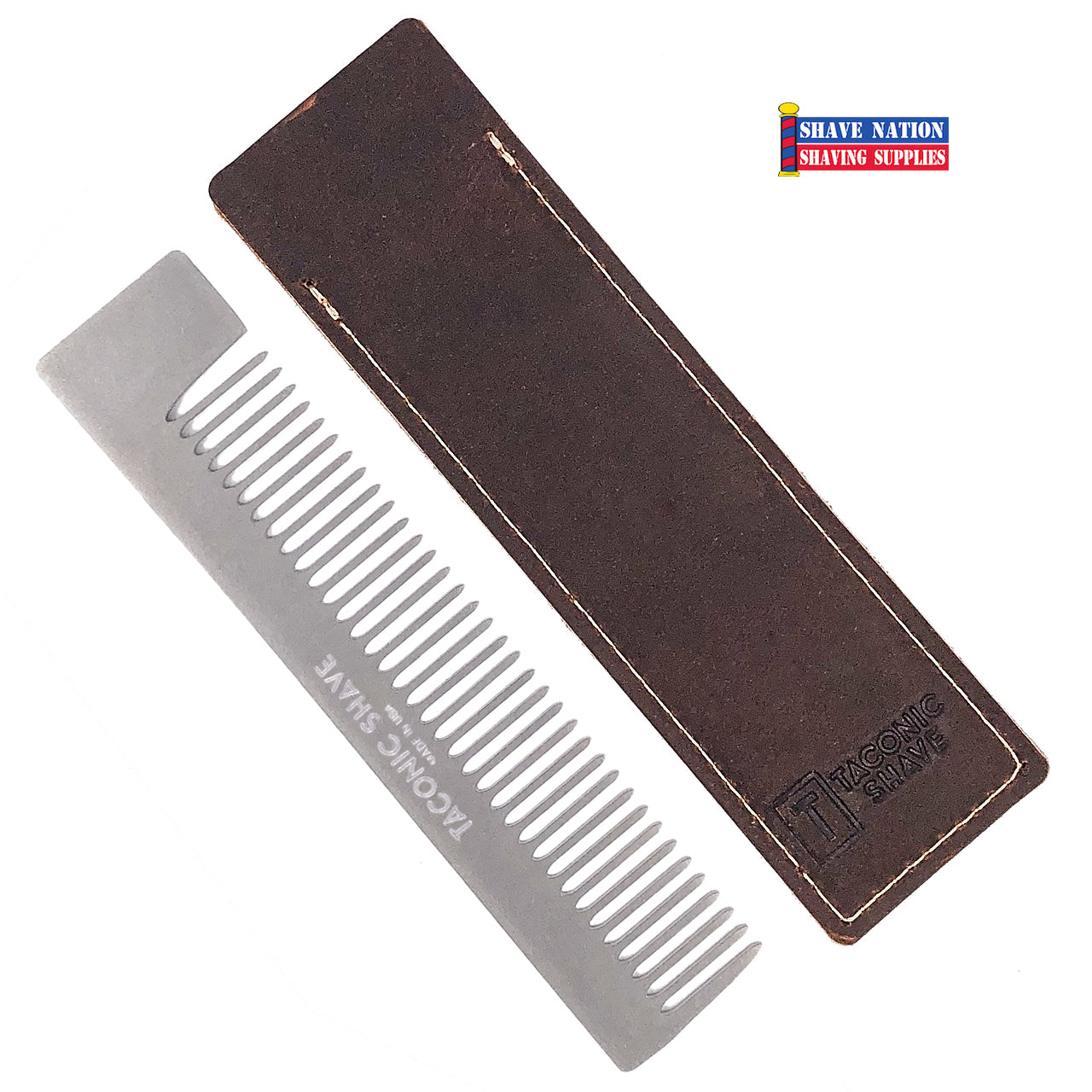 Taconic Stainless Steel Pocket Comb and Sheath