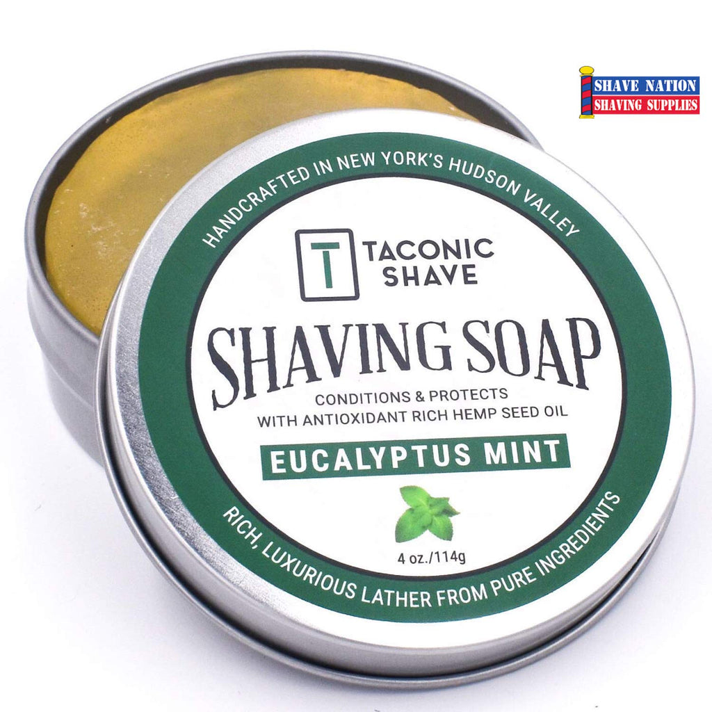 Taconic Eucalyptus Mint Shaving Soap Tin