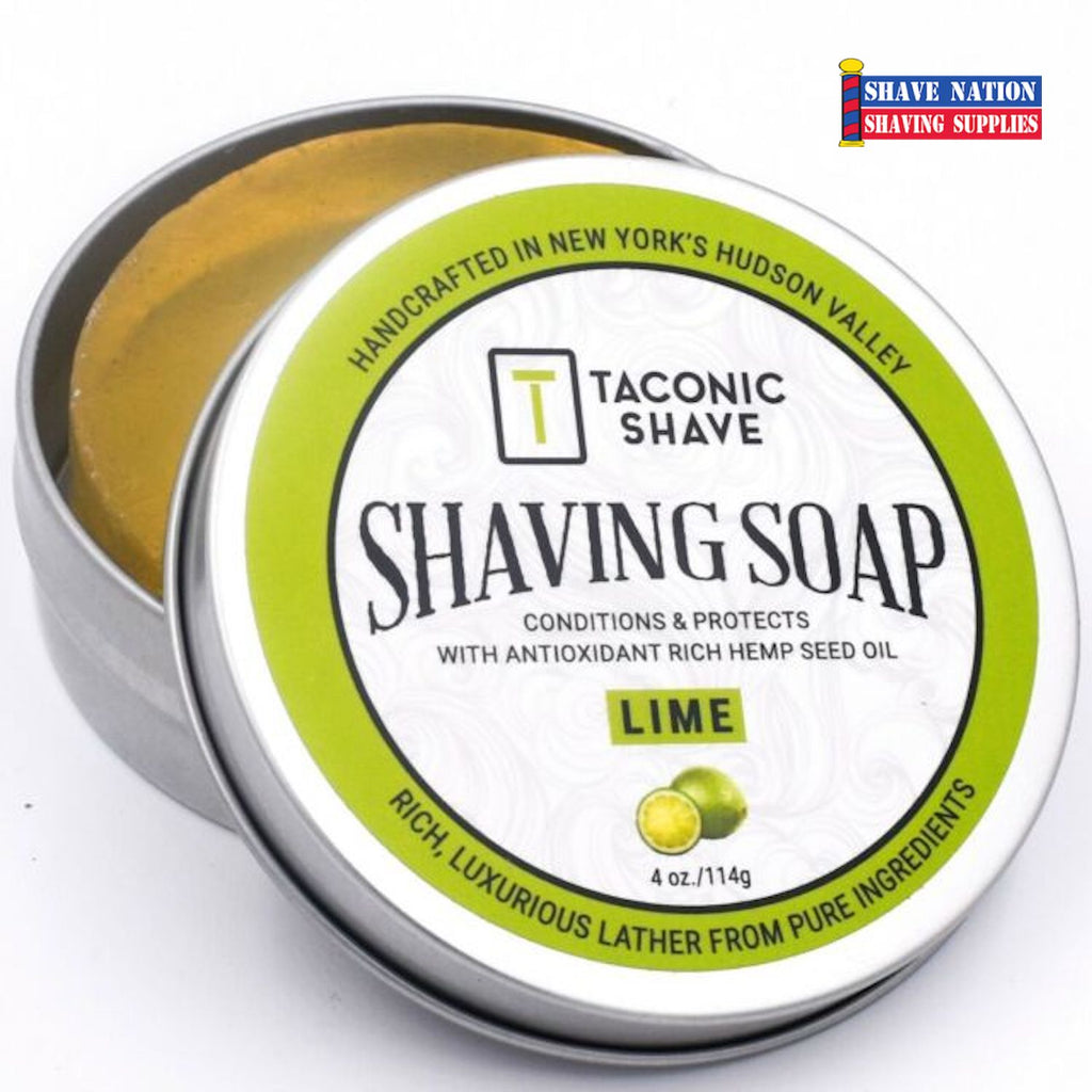 Taconic Lime Shaving Soap Tin