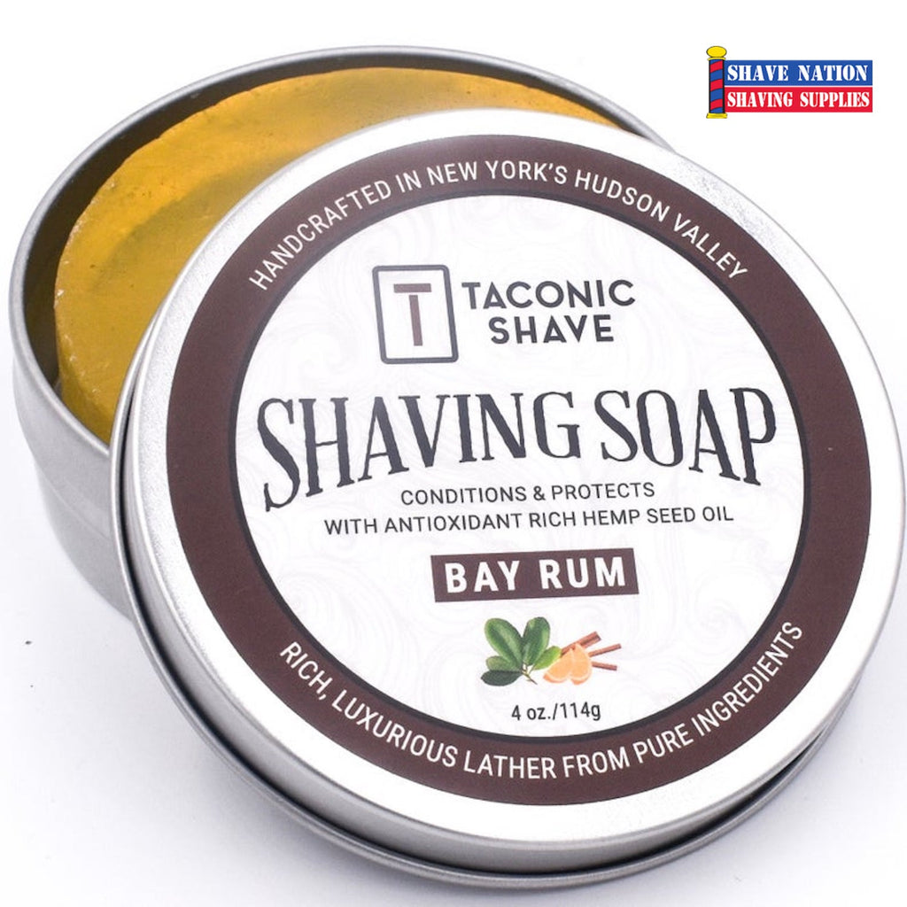 Taconic Bay Rum Shaving Soap Tin